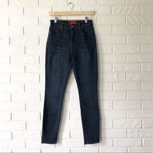 Lucky Brand Olive high rise skinny blue jeans 25